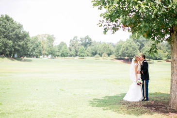 Wedding day under the tree